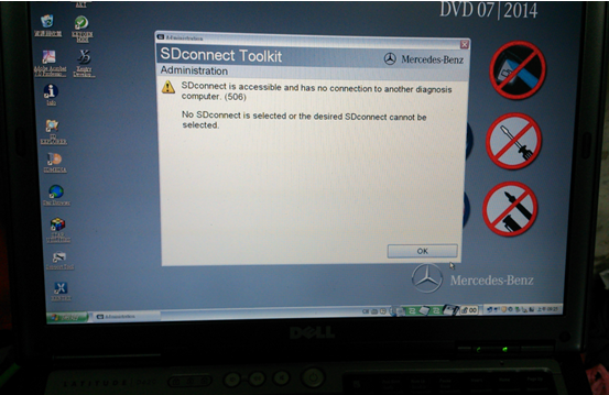 MB SD Connect C4 1 - Solved MB SD Connect C4 No Connection Error Code (506) -