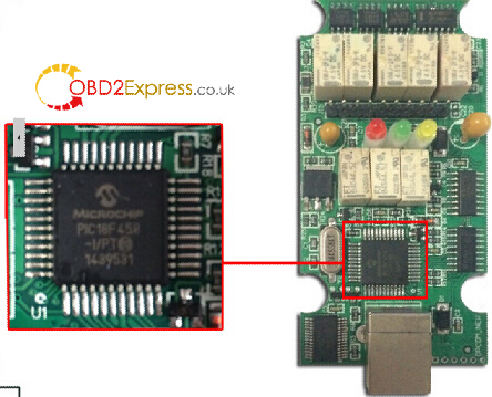 op com 1.59 with PIC18F458 chip - HQ Op-com 1.59 USB CAN interface with PIC18F458 chip -