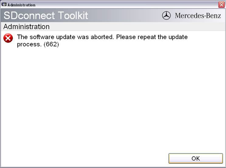 update SDconnect not successful 09 - MB sdconnect C4 update firmware in mux