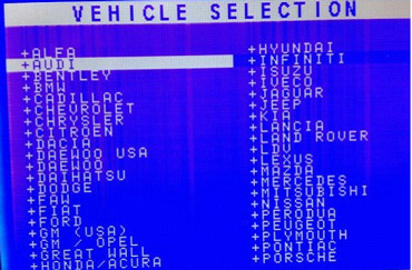 choose the vehicle1 - How to get PIN Code with The Key Pro M8 key programmer -