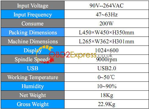 condor xc mini specification 2 - Xhorse Condor XC-MINI key cutting machine Review -