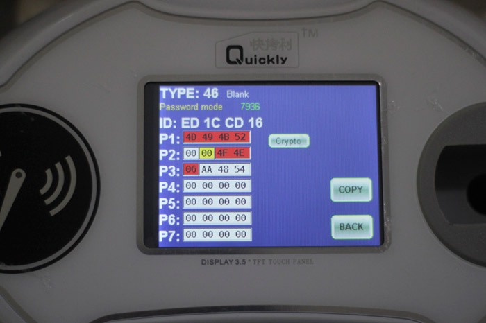 identify chip 002 - Quickly 4C 4D 46 48 clone machine only $230 -