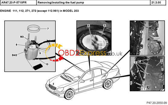 W203-Replace-fuel-pump-01