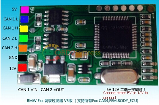 CAS4 CAN-Filter for BMW pinout-2