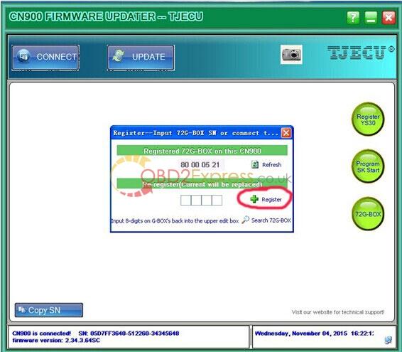 4g cloner box for cn900 key programmer des 2 - How to bonded G decoder CLONER BOX to CN900 key programmer -
