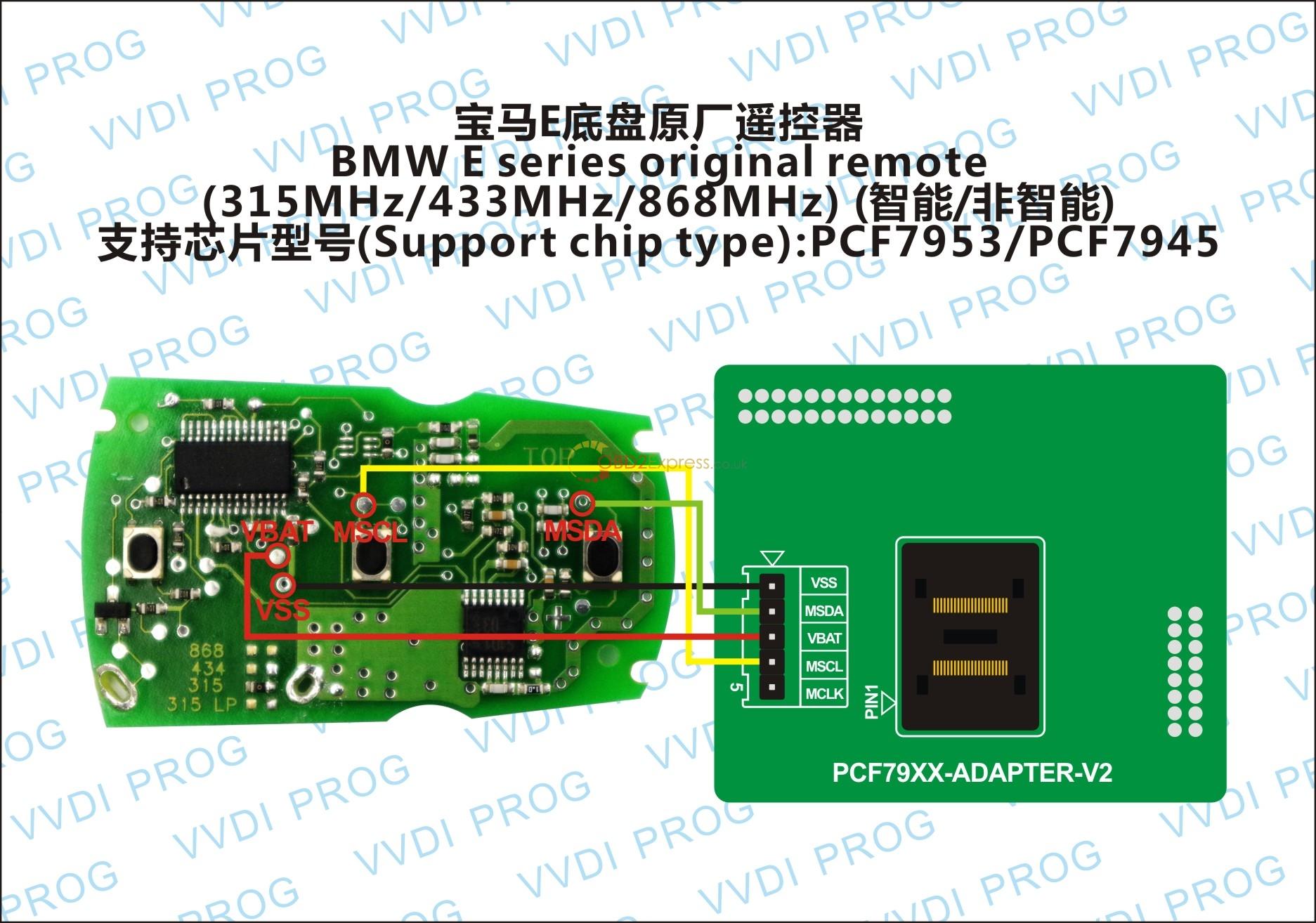 BMW E SEIRES ORIGINAL REMOTE RENEW IN CIRCUIT - How VVDI PROG work on BMW CAS2 CAS 3+ CAS4 EWS4 -