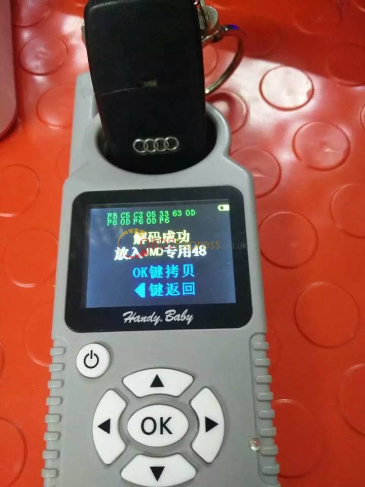 Handy baby car key copy + Audi 48 CHIP decode