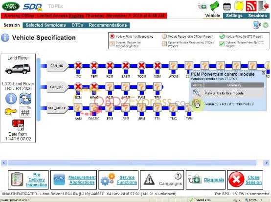 JLR SDD V143 for VXDIAG VCX NANO-11