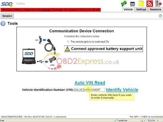 JLR SDD V143 for VXDIAG VCX NANO-8