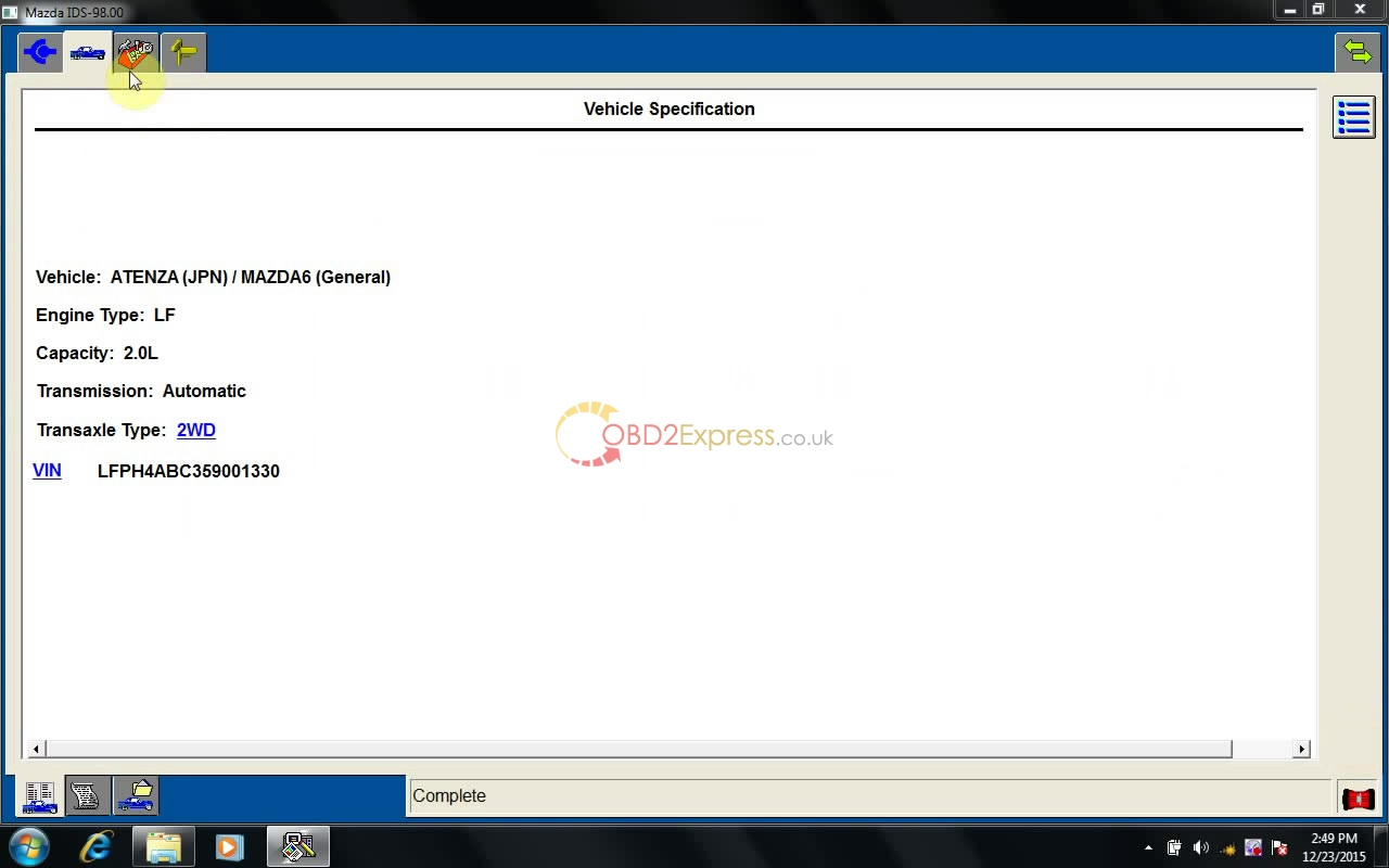 instal MAZDA IDS 98 15 - How to install MAZDA IDS V98 on Win7/ XP