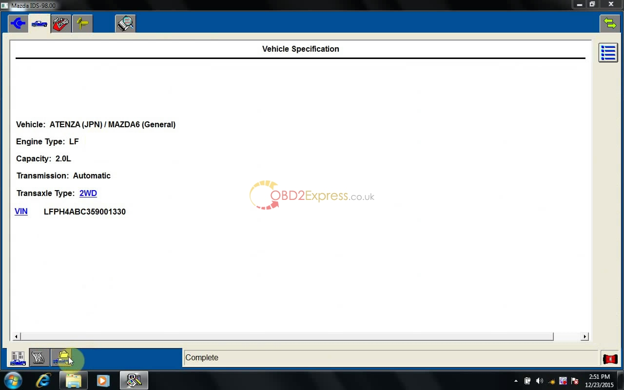 instal MAZDA IDS 98 22 - How to install MAZDA IDS V98 on Win7/ XP