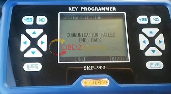 "skp900 communication failed 1 - How to fix SKP900 key programmer Error ""Communication failed"""