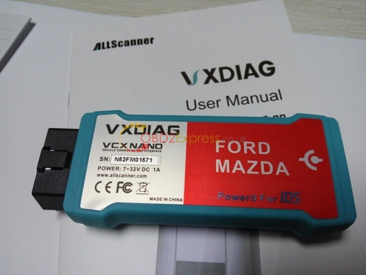 vxdiag vcx nano mazda wifi - How to install MAZDA IDS V98 on Win7/ XP
