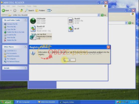 install MINI DSG Reader-2