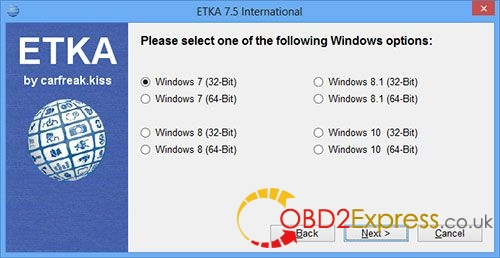 install ETKA 7.4 2 - How to install ETKA 7.4 Electronic Catalogue on WIN 7/8/10