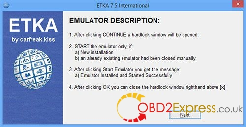 install ETKA 7.4 5 - How to install ETKA 7.4 Electronic Catalogue on WIN 7/8/10