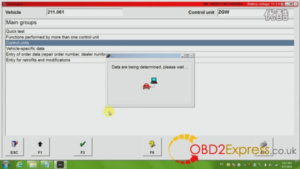Control units 05 600x338 - How to diagnose Mercedes Benz W211 with jDiag Elite J2534