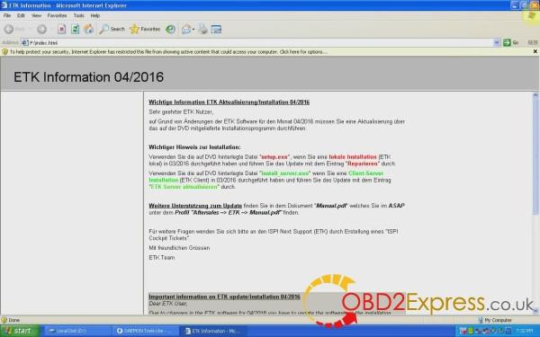 etk information 04 2016 04 600x375 - Multilanguage BMW Electronic Parts Catalog ETK V3.1.30 2016.04 - Multilanguage BMW Electronic Parts Catalog ETK V3.1.30 2016.04
