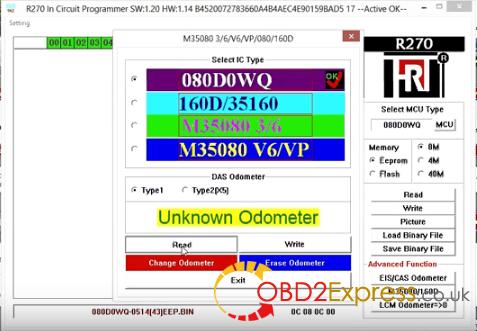 R270 Pro eeprom m35080 1 - XPROG-M, Carprog v8.21, R270 - read & erase BMW EEPROM M35080 -