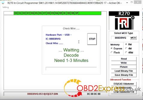 R270 Pro eeprom m35080 2 - XPROG-M, Carprog v8.21, R270 - read & erase BMW EEPROM M35080 -