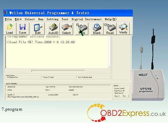 wellon vp598 programmer software 7 - Original Wellon VP598 universal programmer run faster than VP390, how much?