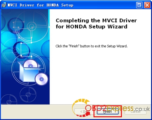 Install MVCI Driver 10 - XHORSE MVCI 3 IN 1 HONDA HDS software Installation Guide -
