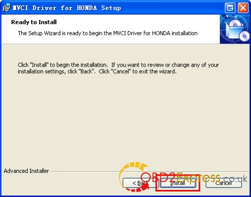 Install MVCI Driver 8 - XHORSE MVCI 3 IN 1 HONDA HDS software Installation Guide -
