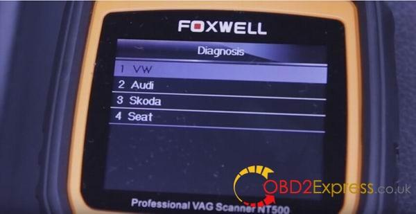 car model 05 600x309 - Using Foxwell NT500 scanner diagnose 2008 VW Touareg V6 TDI