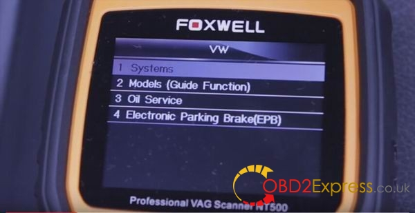 vw function 06 600x309 - Using Foxwell NT500 scanner diagnose 2008 VW Touareg V6 TDI