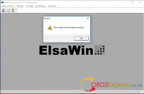 elsawin-license-error