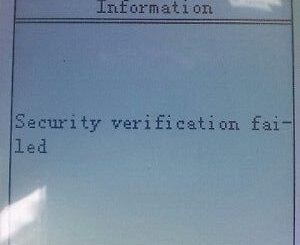 X300M Error message info