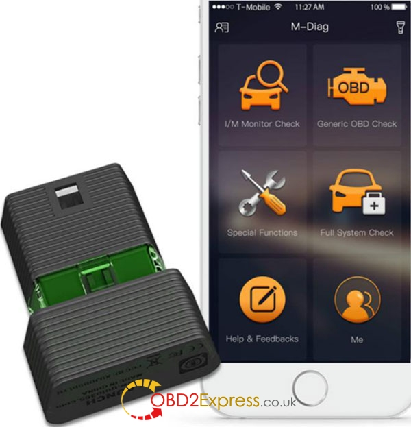 Launch M Diag Android IOS Bluetooth OBDII Scanner 1 - (Best arrival) Launch M-Diag Android&IOS Bluetooth OBD2 Scanner