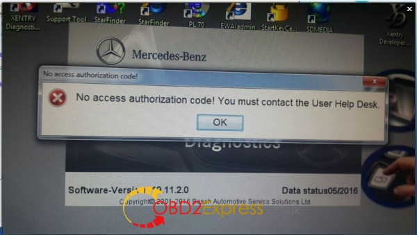 xentry-no-access-authorization-code