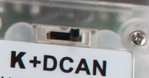 switch-mode K+DCAN interface