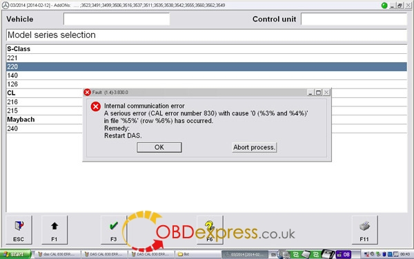 DAS CAL 830 ERROR 2 600x375 - How to solve SDconnect DAS CAL error number 830 - How to solve SDconnect DAS CAL error number 830