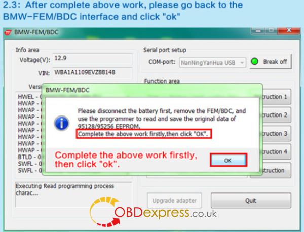 HOW TO USE BMW FEM Key Programmer (11