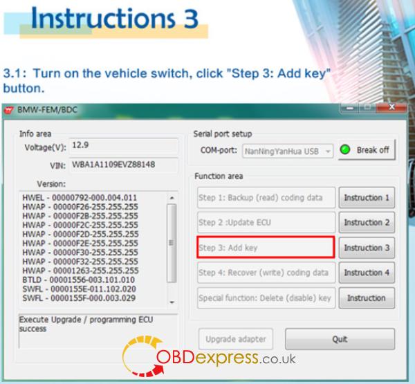 HOW TO USE BMW FEM Key Programmer (14