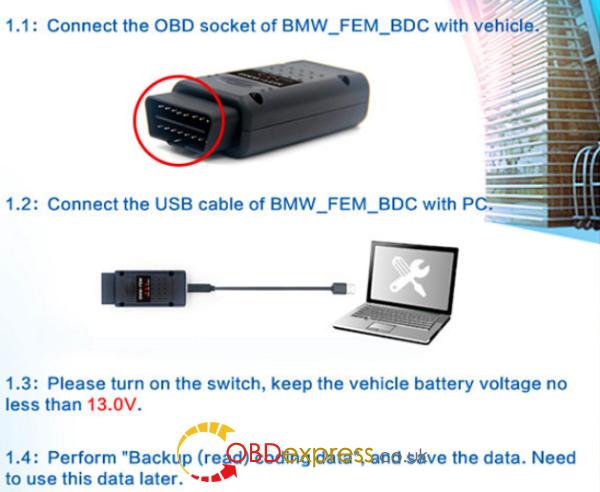 HOW TO USE BMW FEM Key Programmer (2)