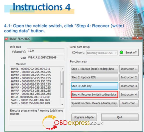 HOW TO USE BMW FEM Key Programmer (21