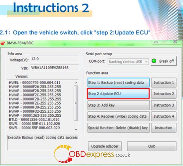 HOW TO USE BMW FEM Key Programmer (6