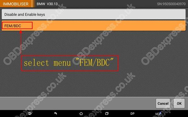 OBDSTAR-X300-DP-BMW-FEM-BDC-Smart-Key-Programming-5