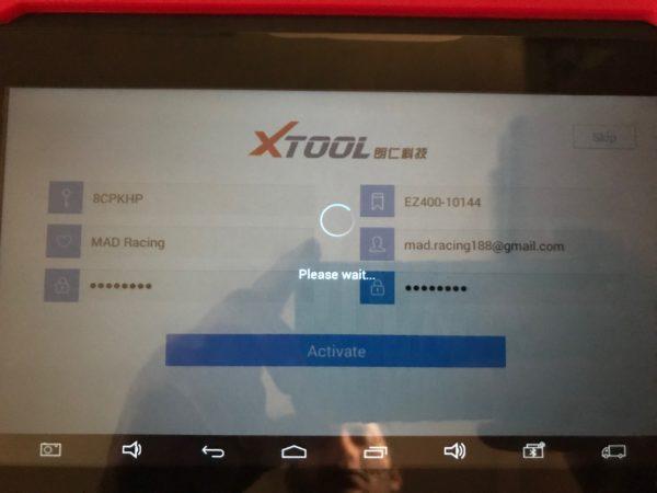 xtool-ez400-activation-not-work