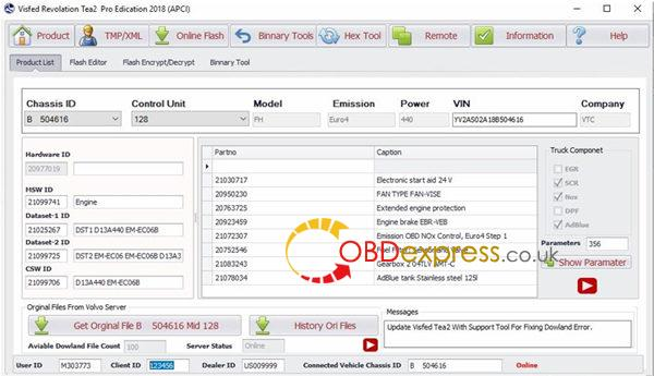 OBDexpress co uk: Volvo Visfed 2019 online setup: 10000+