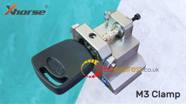 xhorse dolphin key cutting machine ford tibbe key on m3 clamp 02 600x337 - How does Xhorse Dolphin cut key for Ford Tibbe key with M3 clamp? - How does Xhorse Dolphin cut key for Ford Tibbe key with M3 clamp?