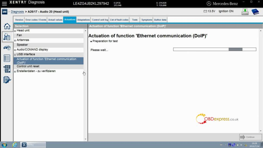 """xentry test actuation of function ethernet communication doip 13 900x506 - Mercedes Benz Xentry test Actuation of function """"Ethernet communication (DOIP)"""