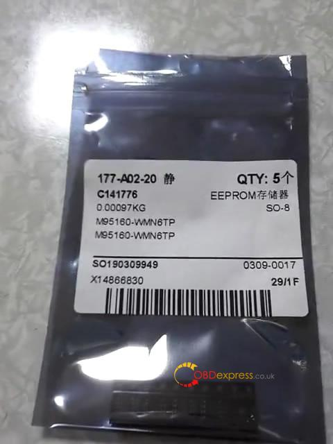 lonsdor k518s read chip type at25160b 14 - Lonsdor K518S reads writes eeprom AT93C56-8bit AT93C66-8bit AT25160B