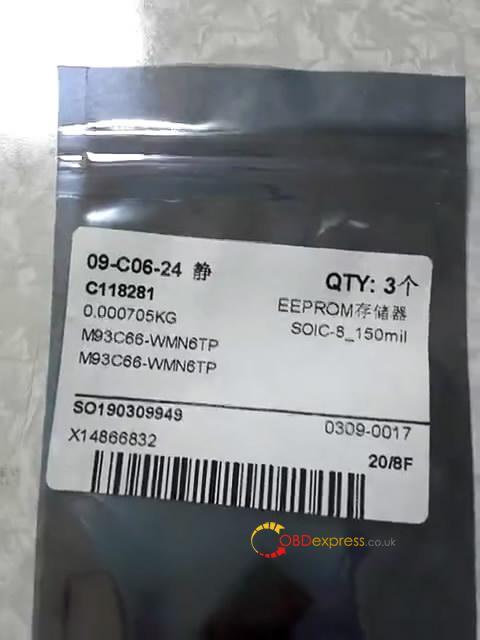 lonsdor k518s read write chip type at93c66 8bit 08 - Lonsdor K518S reads writes eeprom AT93C56-8bit AT93C66-8bit AT25160B