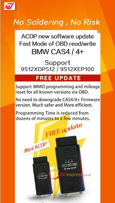 Obd Read Write Bmw Cas4 Cas4 Plus Using Yanhu Acdp 01