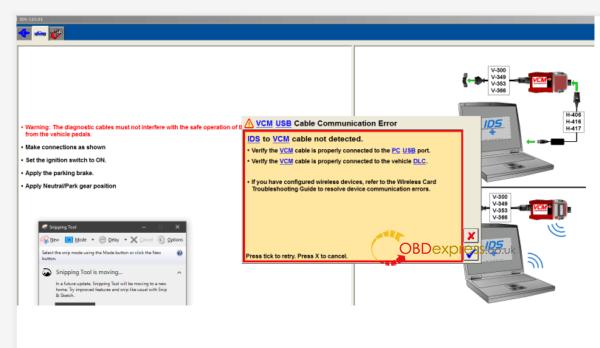 Ids 115 Vcm Usb Cable Communication Error Solution 01