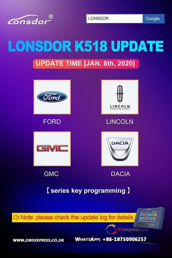 Lonsdork518ise K518s Update